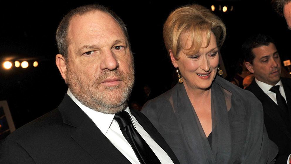 Meryl Streep und Harvey Weinstein gemeinsam im Jahr 2012