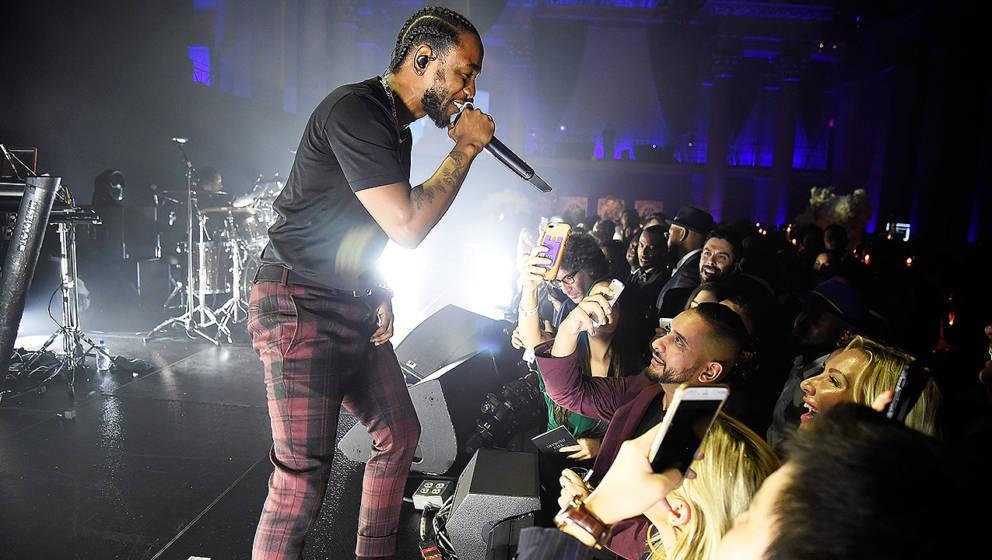 Hip-Hop-Künstler Kendrick Lamar wurde 2017 in den USA besonders gerne gehört