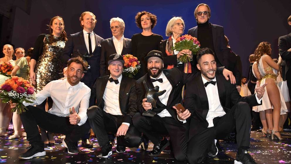 BERLIN, GERMANY - JANUARY 09: Flying Steps and award winners during the B.Z. Kulturpreis 2018 at Staatsoper im Schiller Theat