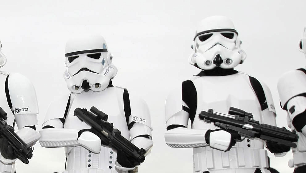LONDON - JULY 02:  Storm Troopers pose for a picture at 'The Amazing Great Children's Party' in Battersea Park on July 2, 200