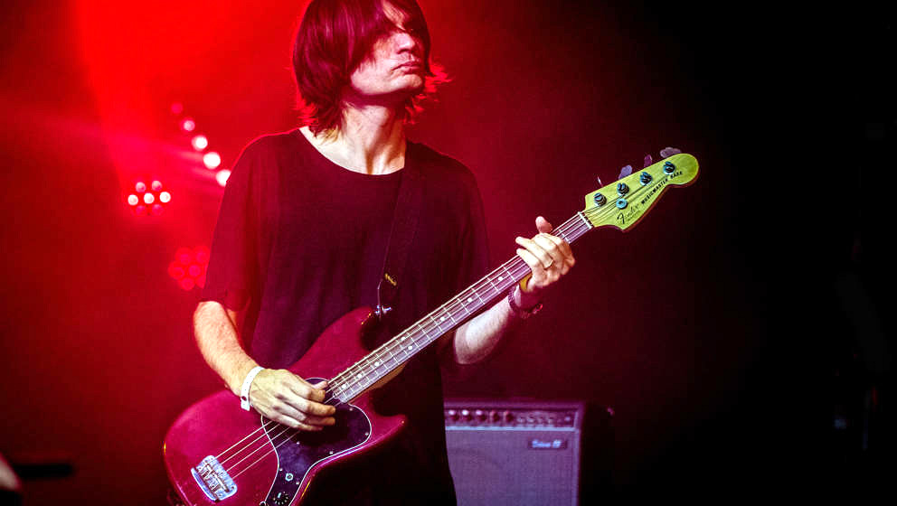 Radiohead guitarist Jonny Greenwood performs at Best Kept Secret festival, Hilvarenbeek, Netherlands, 18th June 2017. He is p