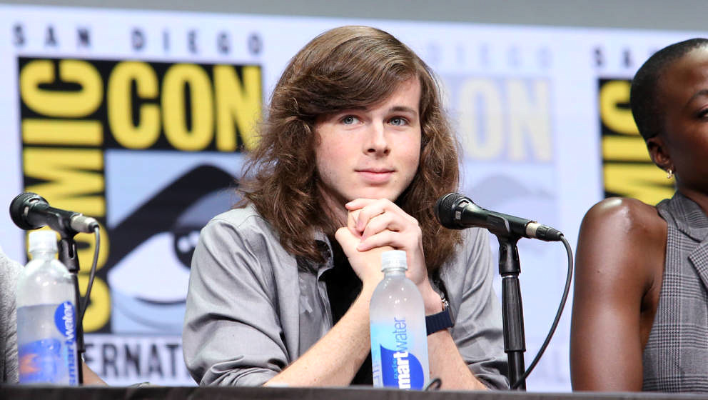 SAN DIEGO, CA - JULY 21:  Actor Chandler Riggs from 'The Walking Dead' at the Hall H panel with AMC at San Diego Comic-Con In