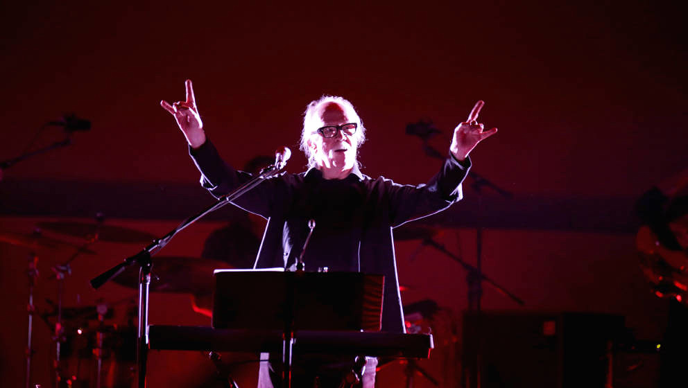 LAS VEGAS, NV - OCTOBER 29:  Film director and composer John Carpenter performs as he kicks off his tour at The Joint inside