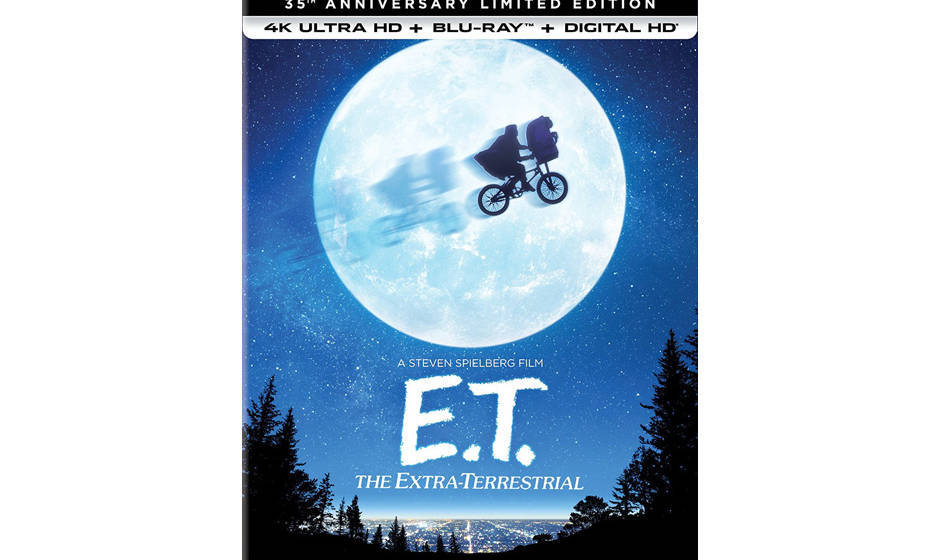 E.T. THE EXTRA-TERRESTIAL 35TH ANNIVERSARY EDITION BLU-RAY DVD. (DVD Artwork). ©Universal Studions.