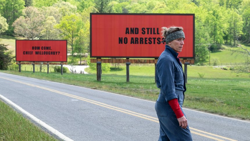 "Frances McDormand (Mildred Hayes) in ""Three Billboards Outside Of Ebbing, Missouri"""