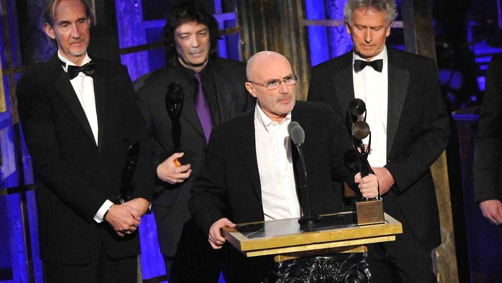 onstage at the 25th Annual Rock and Roll Hall of Fame Induction Ceremony at the Waldorf=Astoria on March 15, 2010 in New York