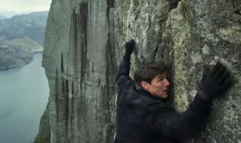 "Felswand gegen Ethan Hunt: Szene aus dem Trailer zu ""Mission: Impossible 6"""