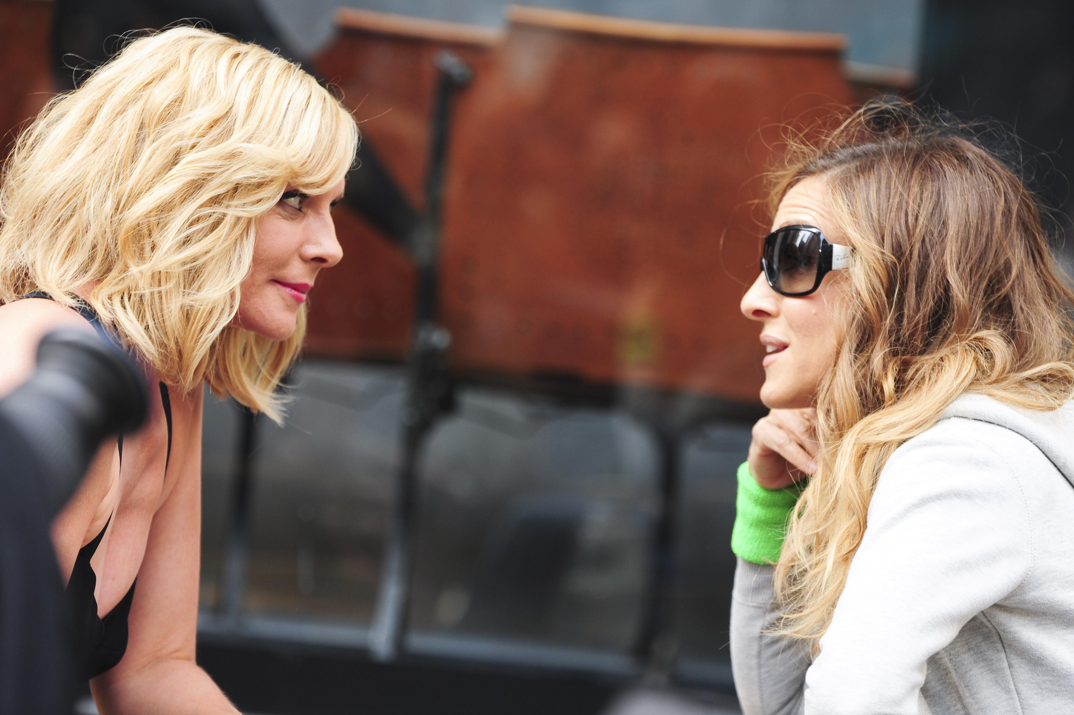 haben anscheinend viel Redebedarf: Kim Cattrall und Sarah Jessica Parker