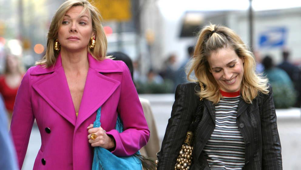 """Kim Cattrall und Sarah Jessica Parker wirkten auch am Set von """"Sex And The City"""" äußerst vertraut"""