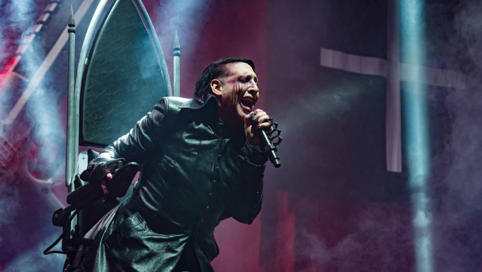 Nicht ganz bei der Sache: Marilyn Manson