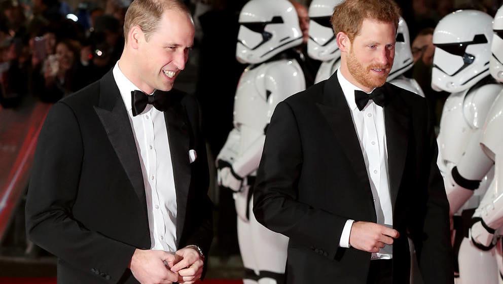 """Prinz William und Prinz Harry bei der Europapremiere von """"Star Wars - Die letzten Jedi"""""""
