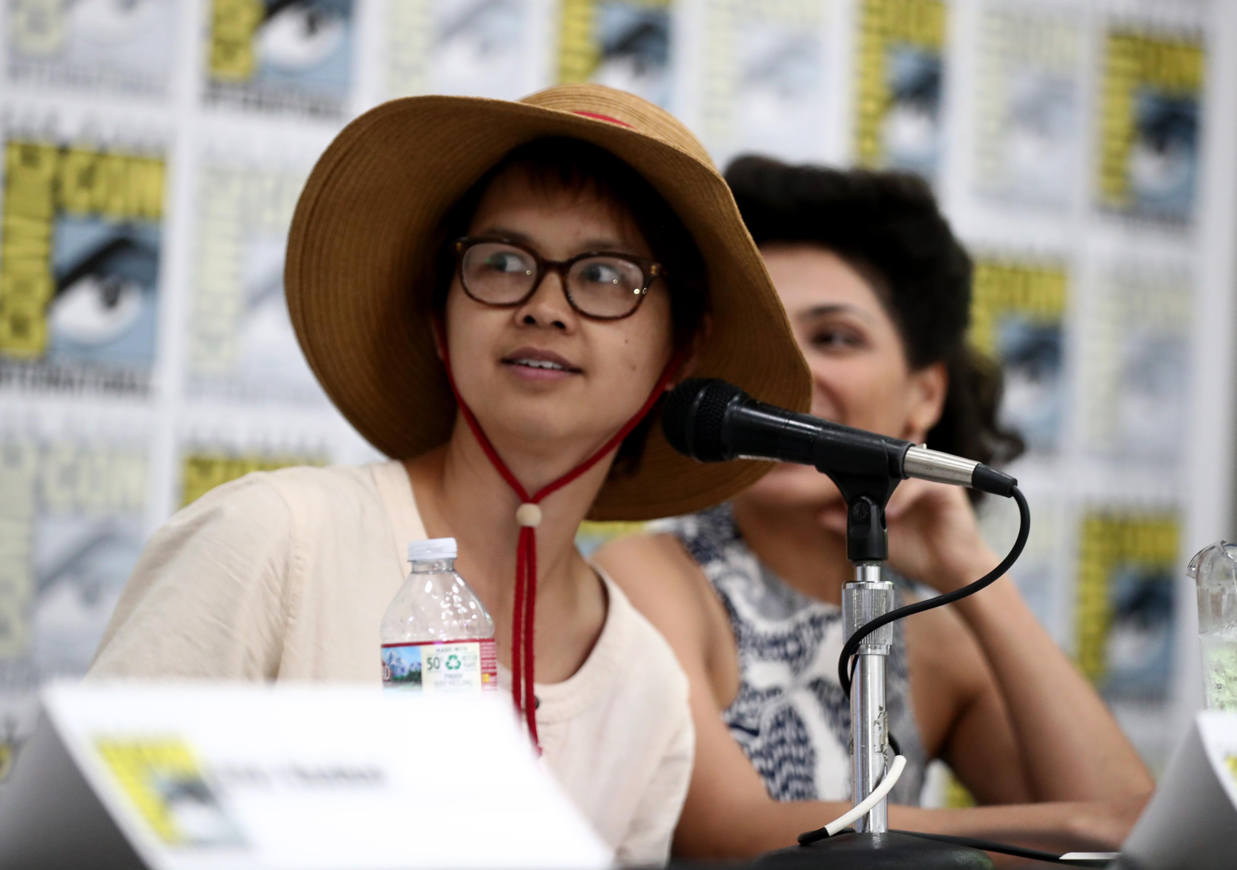 Charlyne Yi bei einem Gespräch während der Comic Con in San Diego