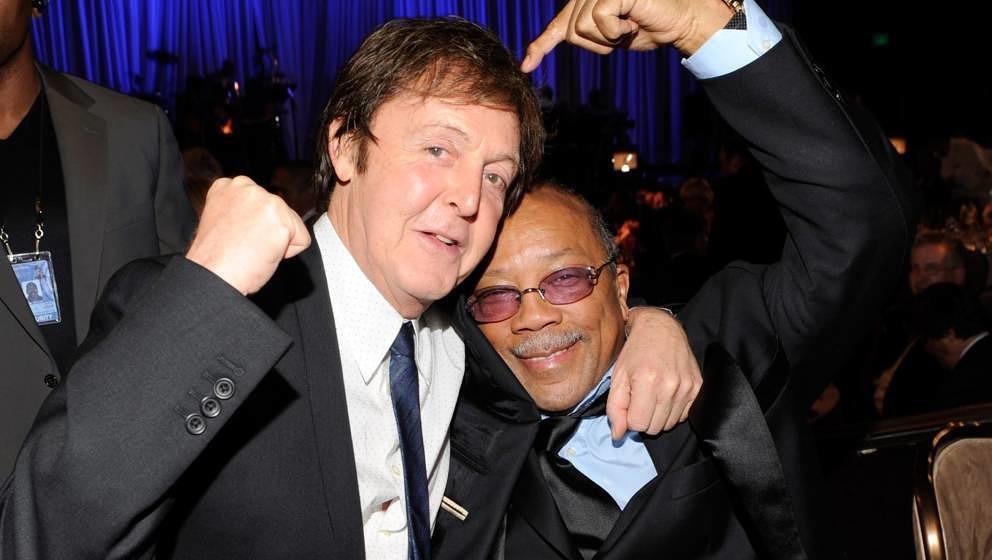 Paul McCartney und Quincy Jones