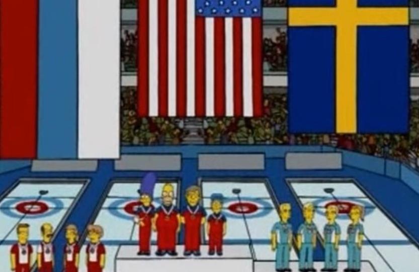 """Die """"Simpsons"""" schnappen sich für die USA die Goldmedaille im Curling"""