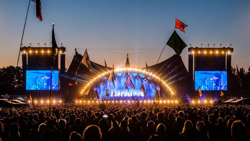 Die Orange Stage des Roskilde Festivals