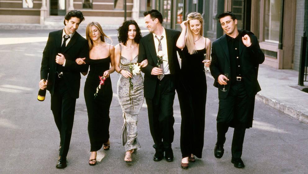 Von links nach rechts: Ross, Rachel, Monica, Chandler, Phoebe und Joey