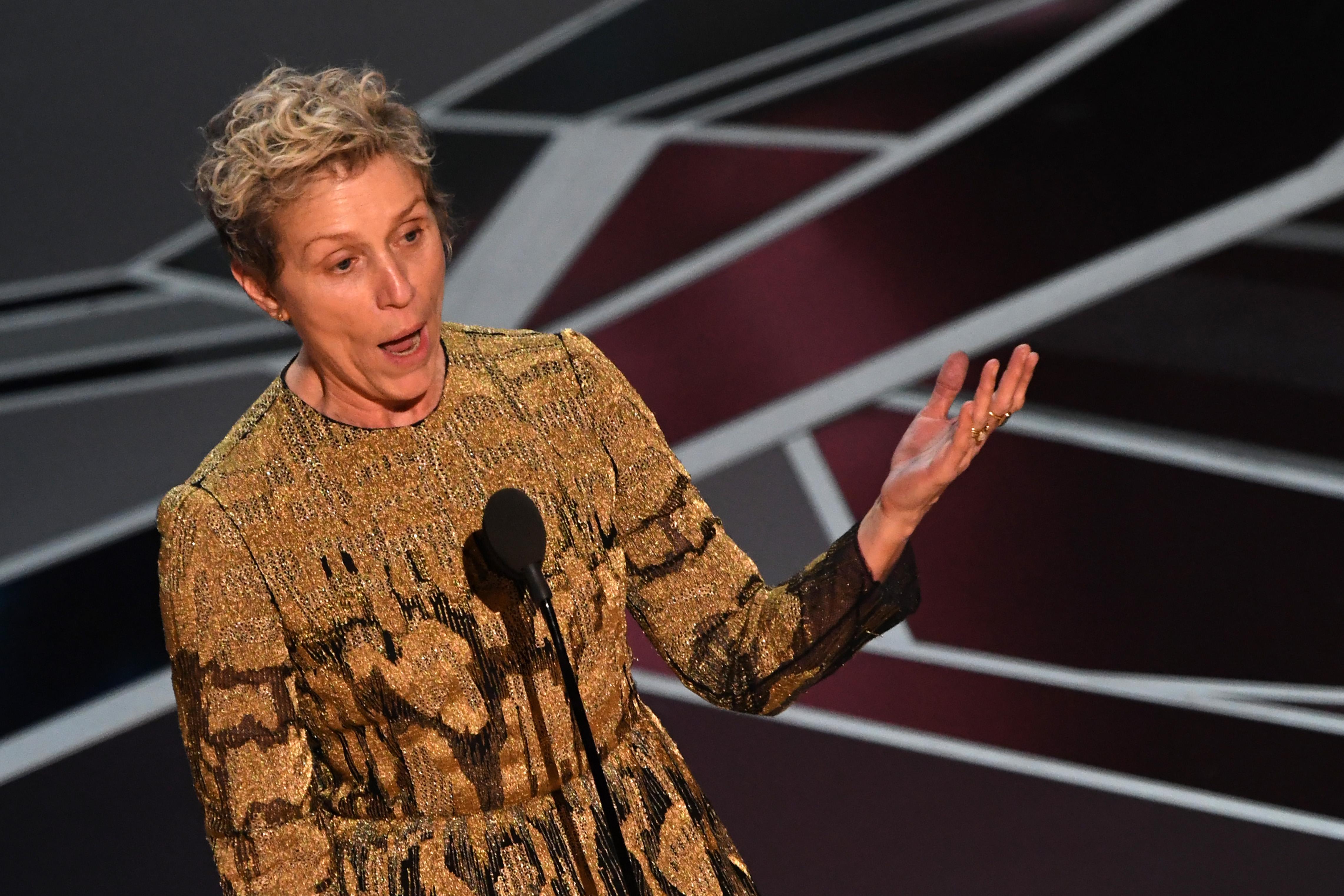 Frances McDormand hielt vielleicht die Rede des Abends