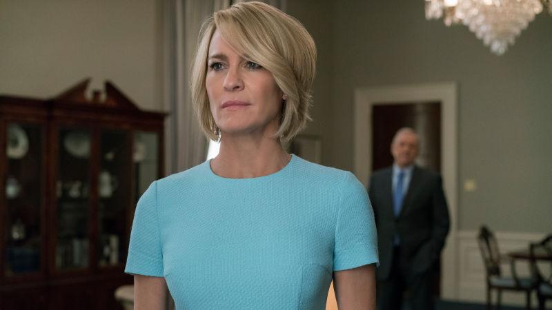 """Nun endgültig im Vordergrund bei """"House Of Cards"""": Claire Underwood (Robin Wright)"""