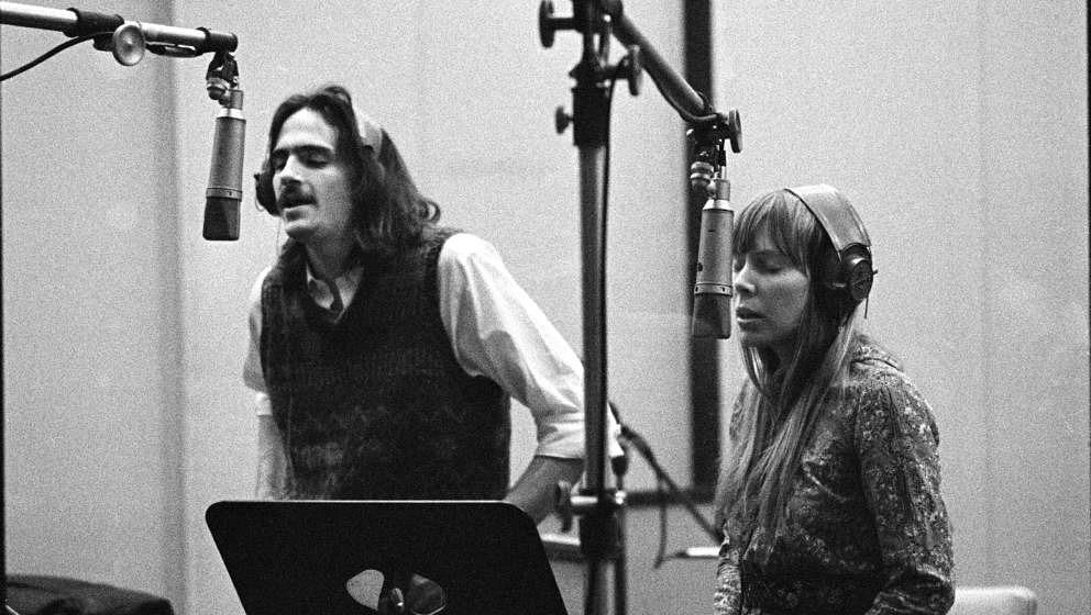 James Taylor und Joni Mitchell im Studio