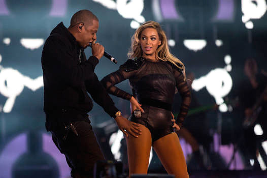 Jay-Z und Beyoncé live