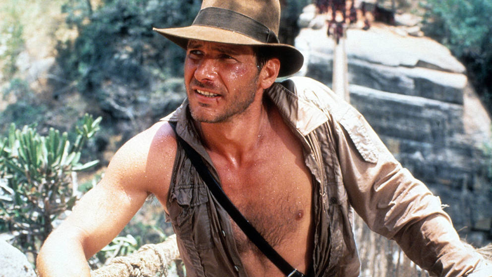 "Harrison Ford in ""Indiana Jones And The Temple Of Doom"""