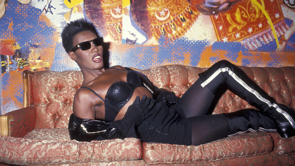Grace Jones bei einer Party für Angelo Colon (1991)