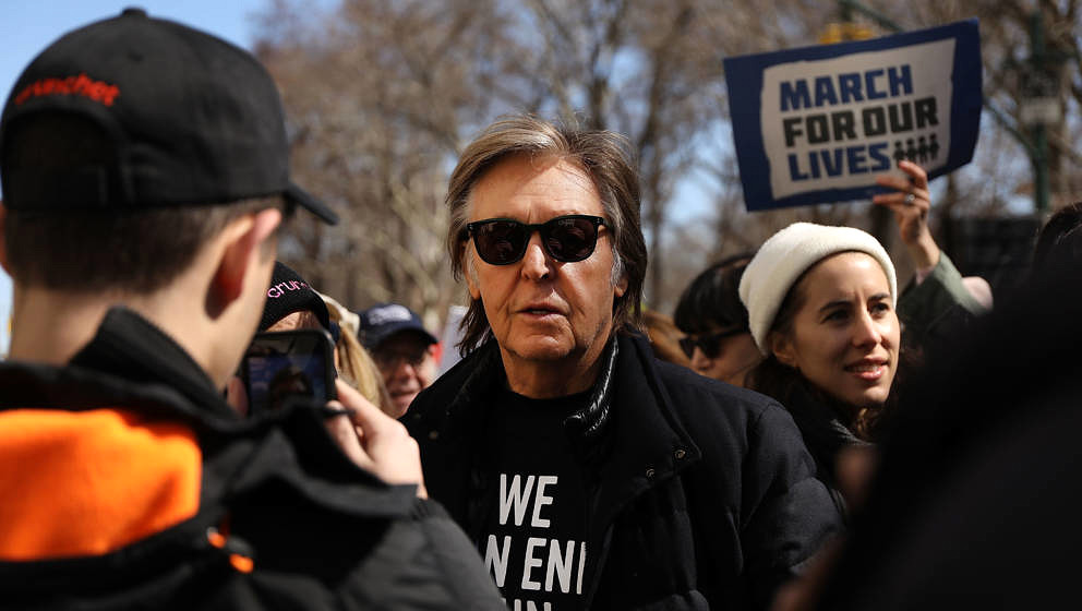 "Paul McCartney beim ""March For Our Lives"" in New York"
