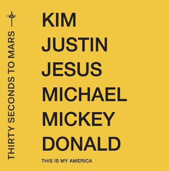 """Nur eine von vielen Cover-Artworks für """"America"""" von Thirty Seconds To Mars"""
