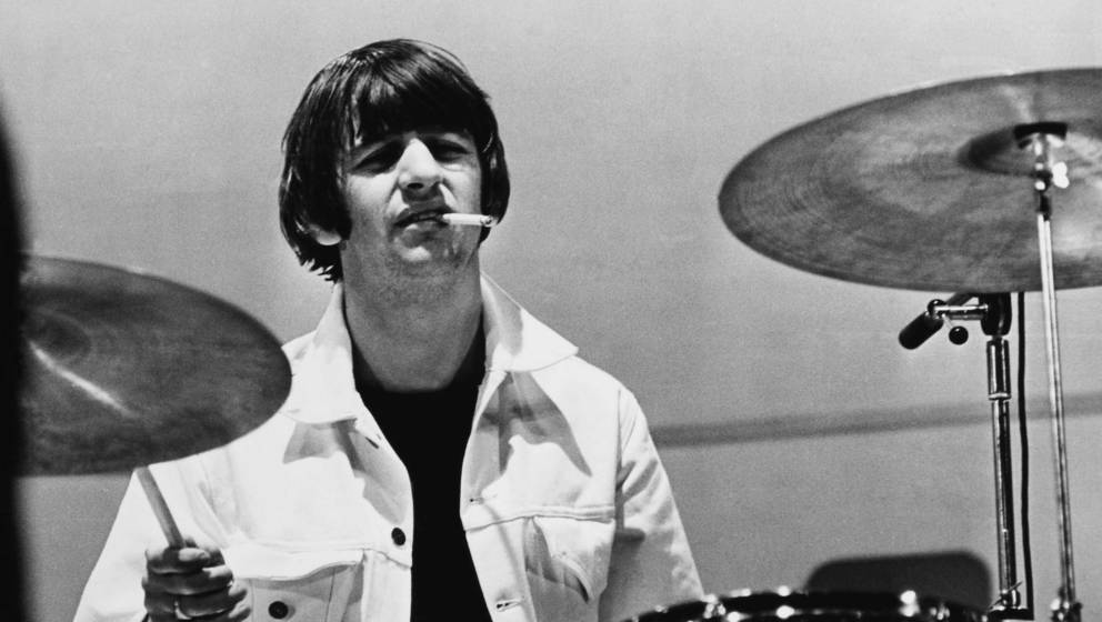 Lässig: Ringo Starr an seinem Arbeitsgerät, 1965