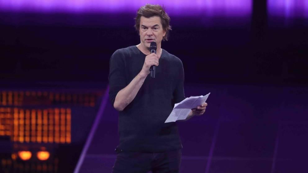 BERLIN, GERMANY - APRIL 12:  'Rock - National' award winner Campino of Die Toten Hosen speaks on stage during the Echo Award