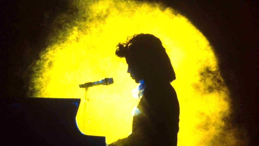 CHARLOTTE, UNITED KINGDOM - SEPTEMBER 24: Prince plays Charlotte Coliseum during the Lovesexy tour on September 24, 1988 in C