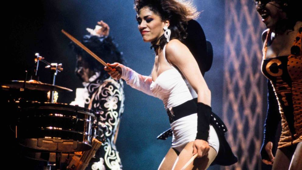 LONDON, UNITED KINGDOM - JULY 28: Sheila E with Prince and Cat during a Lovesexy concert on July 28, 1988 in London, United K