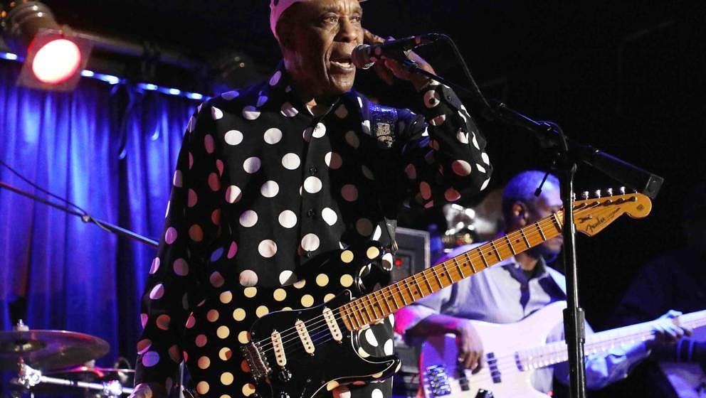 NEW YORK, NY - APRIL 29:  Buddy Guy performs onstage during B.B. King Blues Club & Grill's Final Show With Buddy Guy at B