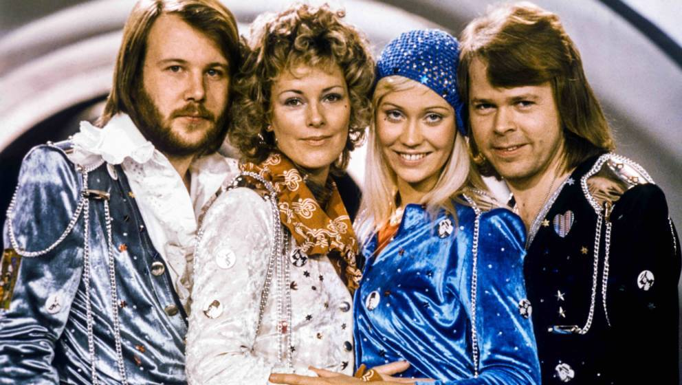 Picture taken in 1974 in Stockholm shows the Swedish pop group Abba with its members (L-R) Benny Andersson, Anni-Frid Lyngsta