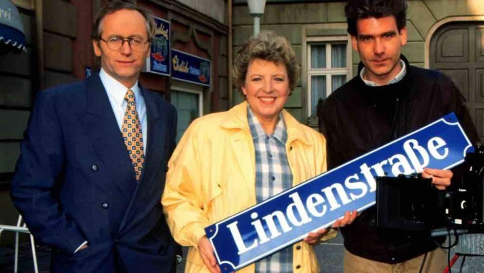 Joachim Hermann Luger als 'Hans Beimer',;Marie-Luise Marjan als 'Helga Beimer', Dr.;Peter Moritz, ARD-Serie 'Lindenstraße',;