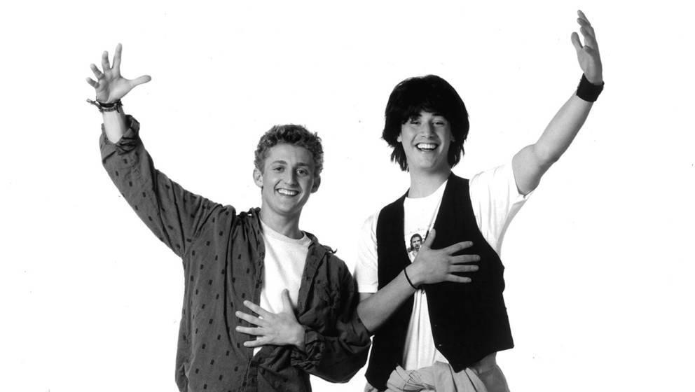 Alex Winter und Keanu Reeves im Jahr 1989 als Bill & Ted