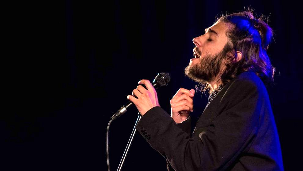 CASCAIS, PORTUGAL - SEPTEMBER 08:  Eurovision's 2017 winner, Salvador Sobral, performs on stage during his last concert on Se