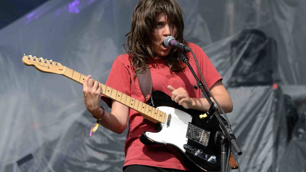CHICAGO, IL - JULY 19:  Courtney Barnett performs during Pitchfork Music Festival 2015 at Union Park on July 19, 2015 in Chic
