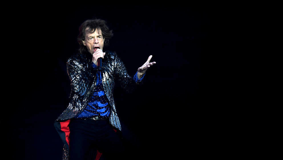 DUBLIN, IRELAND - MAY 17: Mick Jagger of The Rolling Stones performs live on stage on the opening night of the european leg o