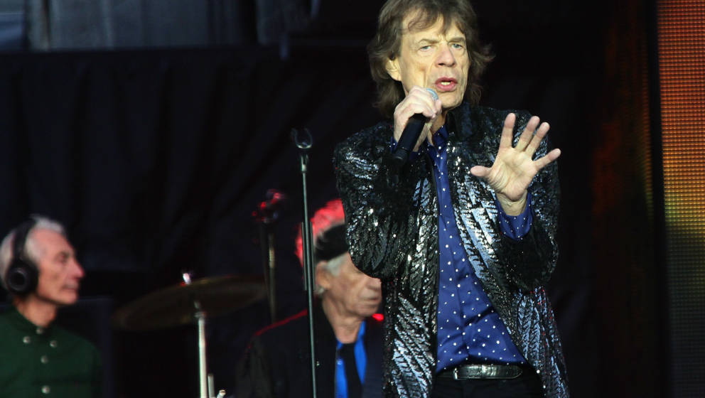 DUBLIN, IRELAND - MAY 17: Mick Jagger from The Rolling Stones performs live on stage at Croke Park on May 17, 2018 in Dublin,