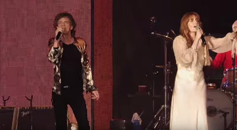 Mick Jagger und Florence Welch im Duett