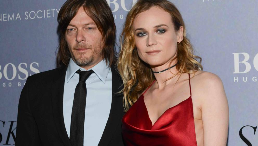 NEW YORK, NY - APRIL 14:  Diane Kruger and Norman Reedus attend The Cinema Society And Hugo Boss Host The Premiere Of IFC Fil