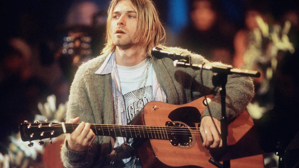 """Stein des Anstoßes: Die Gitarre von Kurt Cobain, die er bei Nirvanas """"MTV Unplugged""""-Auftritt benutzt hat"""