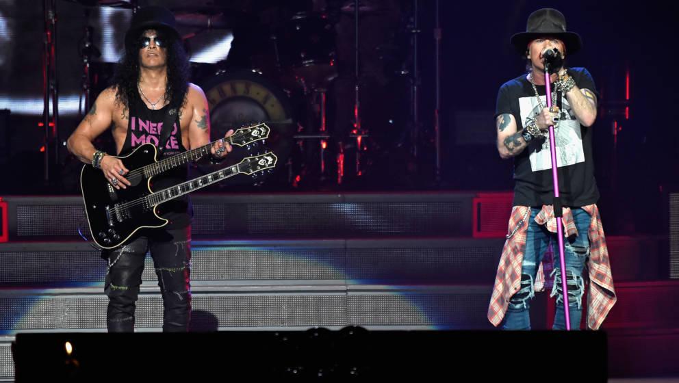 Slash und Axl Rose von Guns N'Roses (Archivbild)