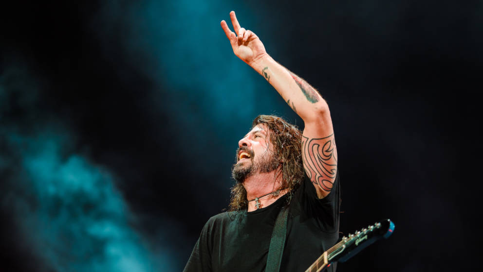 SAO PAULO, BRAZIL - FEBRUARY 27:Dave Grohl singer member of the band Foo Fighters performs live on stage at Allianz Parque on