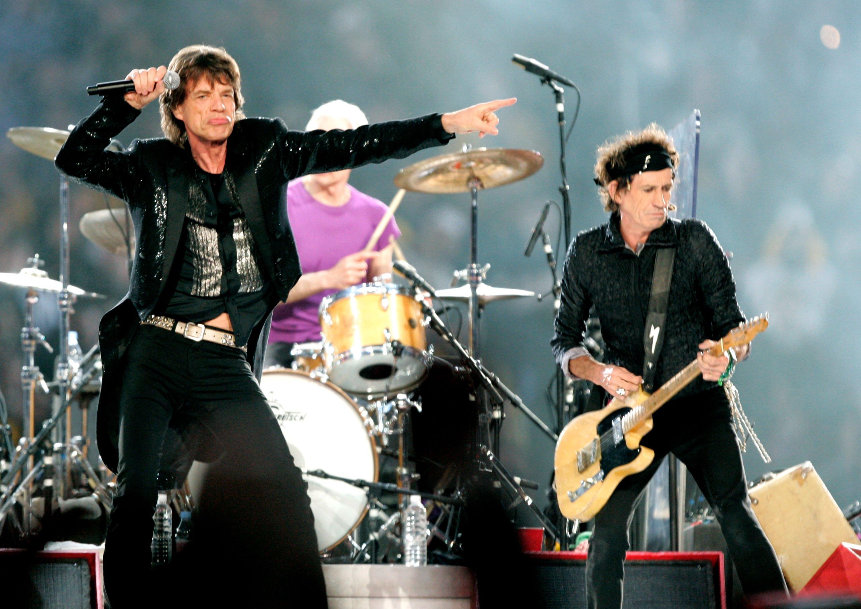 Die Stones beim Super Bowl 2006