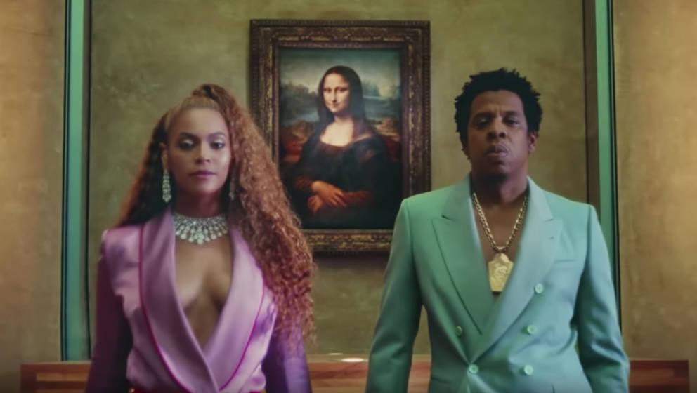 Beyoncé und Jay-Z vor der Mona Lisa im Louvre