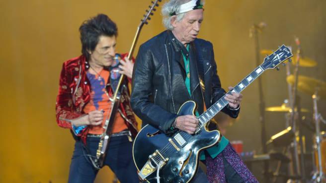 Rolling Stones in Twickenham: Ronnie Wood und Keith Richards on Fire
