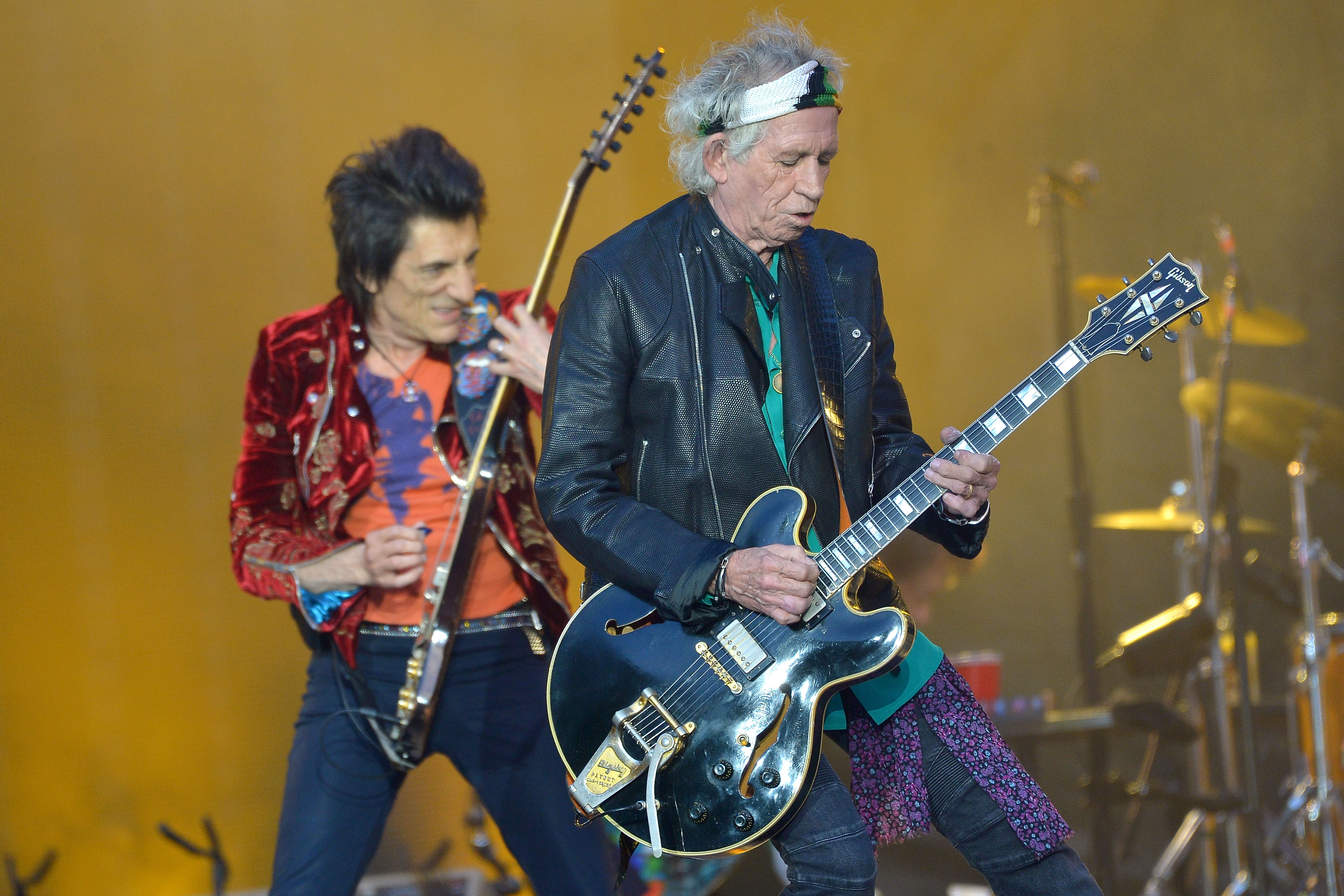 Rolling Stones in Twickenham: Ronnie Wood und Keith Richards on Fire