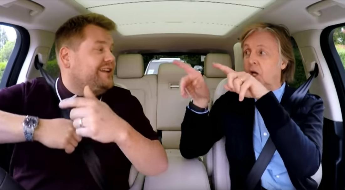 Paul McCartney und James Corden singen Hits der Beatles